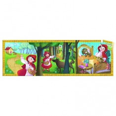 Puzzle 36 pièces - Silhouette : Le petit chaperon rouge