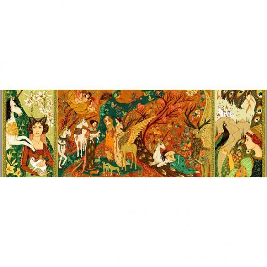 Puzzle 500 pièces - Gallery : Dames à la licorne - Djeco-07624