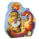 Puzzle 54 pièces : Silhouette : Vaillant et les dragons