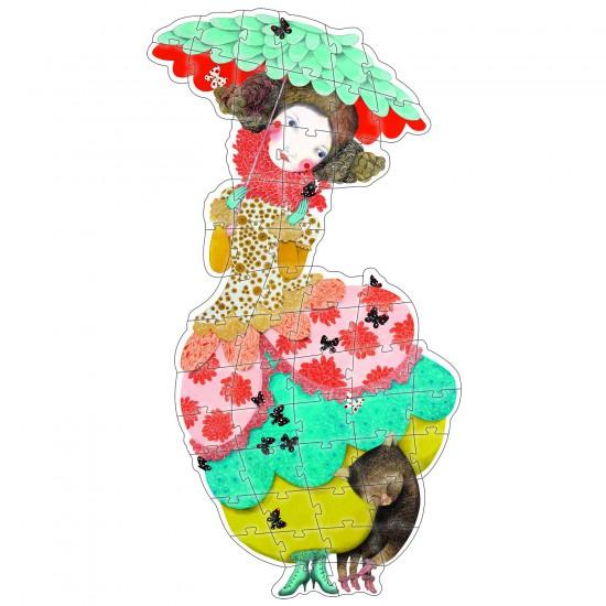 Puzzle 54 pièces géant : Princesse Charline - Djeco-07127