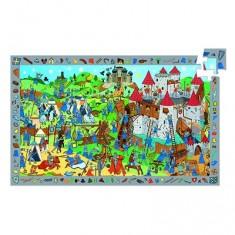 Puzzle 54 pièces - Poster et jeu d'observation : Chevaliers