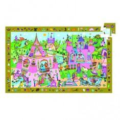 Puzzle 54 pièces - Poster et jeu d'observation : Princesse