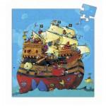 Puzzle 54 pièces - Silhouette : Bateau de Barberousse