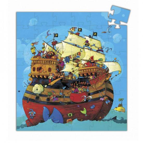 Puzzle 54 pièces - Silhouette : Bateau de Barberousse - DJ07241