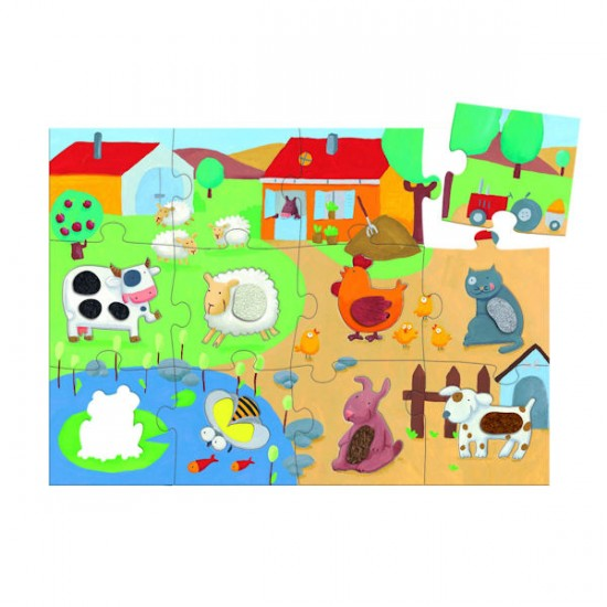Puzzle 20 pièces géant - Tactiloferme - 7117