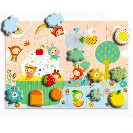 Puzzle géant Djeco 24 pièces : Surprise sur le gâteau - Djeco-07012