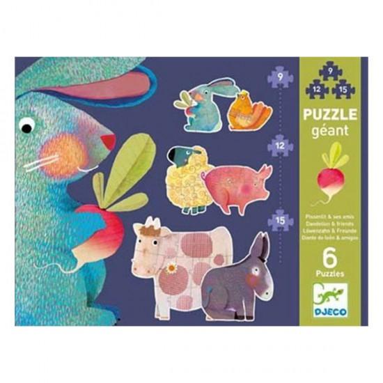Puzzle géant évolutif Djeco : Pissenlit et ses amis - Djeco-07145