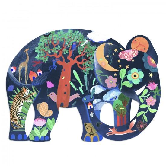 Puzzle Puzz'Art 150 pièces : Eléphant - Djeco-DJ07652
