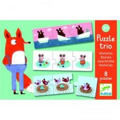 Puzzle trio histoires : 8 puzzles de 3 pièces