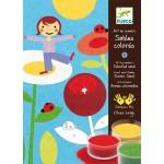 Sables colorés : Dans un jardin