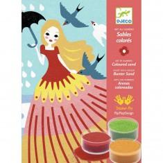 Sables colorés : Belles en balade