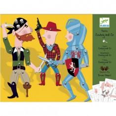 Set créatif Pantins : Cowboy & Co