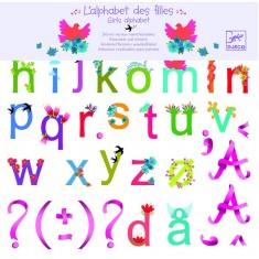 Stickers repositionnables : L'alphabet des filles