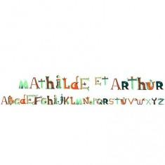 Stickers repositionnables : L'alphabet des pirates