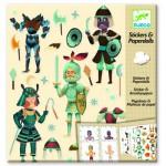 Stickers et Paper dolls : Les chevaliers
