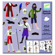 Stickers et Paper dolls : Les pirates