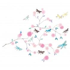 Stickers muraux 3D : Arbre aux libellules