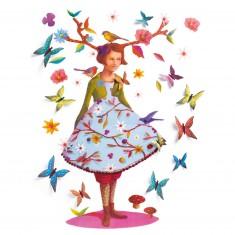 Stickers muraux 3D : Bois de rose