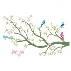 Stickers muraux 3D : Cerisier en fleurs