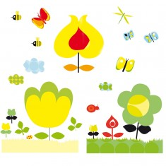 Stickers muraux Les fleurs jaunes pour chambre Twiggy