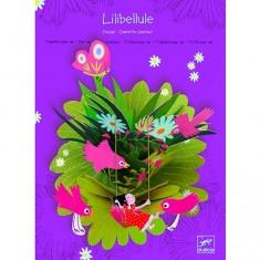 Tableau en papier : Pop-up Libellule