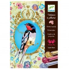Tableaux à pailleter : Oiseaux à paillettes