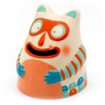 Tirelire en céramique : Glouton masqué