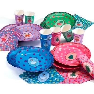 vaisselle anniversaire la f te des coquettes djeco magasin de jouets pour enfants. Black Bedroom Furniture Sets. Home Design Ideas
