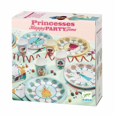 vaisselle anniversaire la f te des princesses djeco magasin de jouets pour enfants. Black Bedroom Furniture Sets. Home Design Ideas