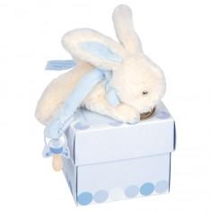 Attache-sucette : Lapin Bonbon bleu