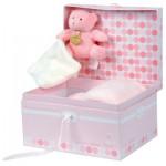 Coffret de naissance : Couverture rose et ours Bonbon