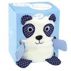 Couverture blanche avec panda bleu