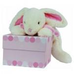 Doudou grand modèle : Lapin Bonbon rose