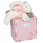 Doudou petite taille : Lapin Bonbon rose