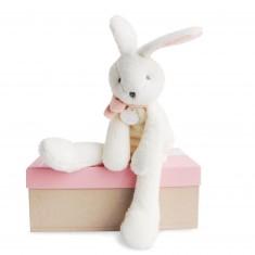 J'aime mon doudou : Lapin rose chic