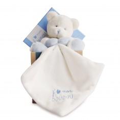 J'aime mon doudou : Peluche et doudou ours bleu