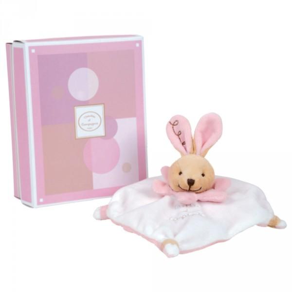 mini doudou acidul lapin rose jeux et jouets doudou et compagnie avenue des jeux. Black Bedroom Furniture Sets. Home Design Ideas