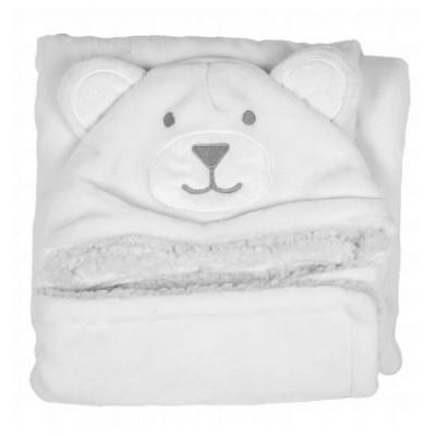 Nid d'ange douillet blanc : Dessin ours - DoudouCie-DC2512