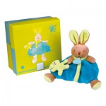 Peluche Les Animaux Graffitis : Lapin turquoise