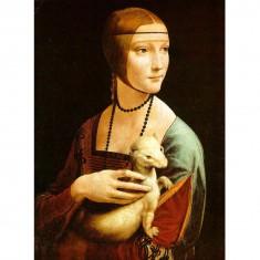 Puzzle 1000 pièces : Léonard de Vinci : La Dame à l'Hermine