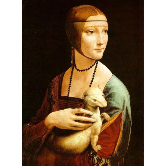 Puzzle 1000 pièces : Léonard de Vinci : La Dame à l'Hermine - Dtoys-72689DA02