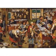 Puzzle 1000 pièces : Brueghel : L'avocat de village