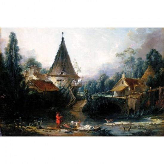 Puzzle 1000 pièces : François Boucher : Paysage près de Beauvais - Dtoys-72696BO01