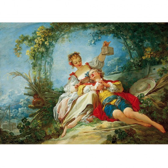 Puzzle 1000 pièces : Fragonard : Les amants heureux - Dtoys-72702FR02