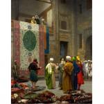 Puzzle 1000 pièces : Jean-Léon Gérôme : Marchand de tapis au Caire