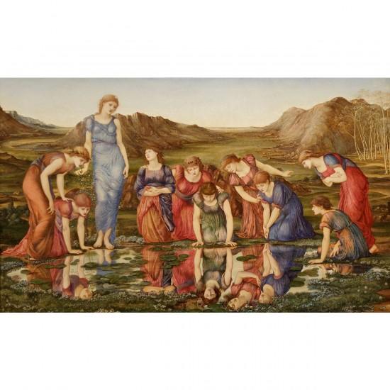 Puzzle 1000 pièces : Edward Burne-Jones : Le miroir de Vénus - Dtoys-72733BU01
