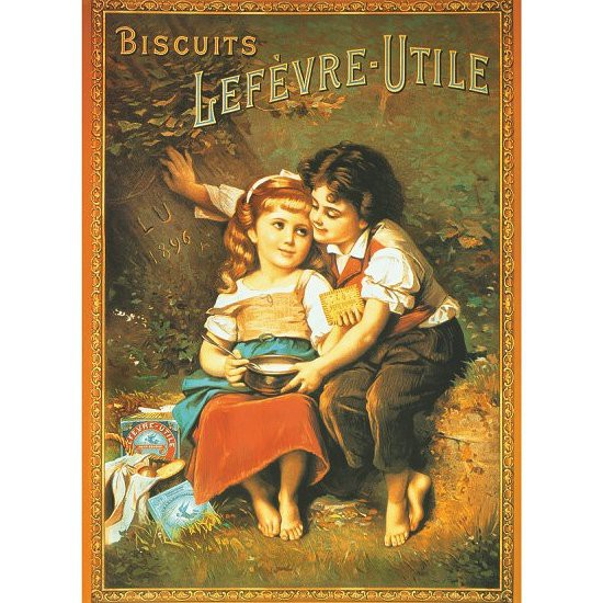 Poster vintage : Biscuits Lefevre-Utile - DToys-67579PS03