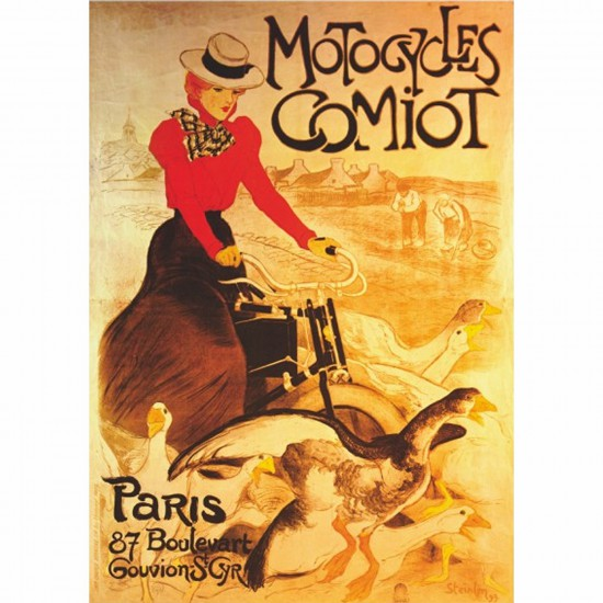 Poster vintage : Motocycles Comiot - DToys-67579PS02