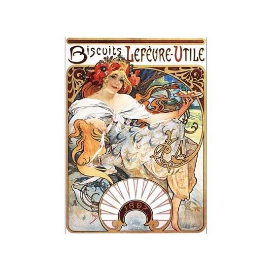 Puzzle 1000 pièces - Alphonse Mucha : Biscuits Lefèvre-Utile - Dtoys-66930MU04