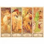 Puzzle 1000 pièces - Alphonse Mucha : Les saisons
